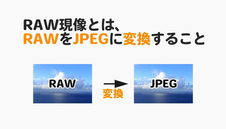 RAW現像とは、RAWデータをJPEGに変換すること