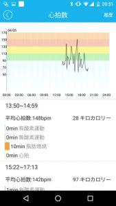 iWOWNfit-i6-proアプリ心拍数表示