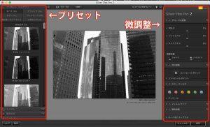 Silver Efex Pro 2の編集画面