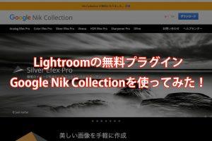 Lightroomの無料プラグインGoogle Nik Collectionを使ってみた!