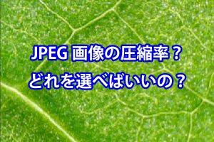 JPEG圧縮率