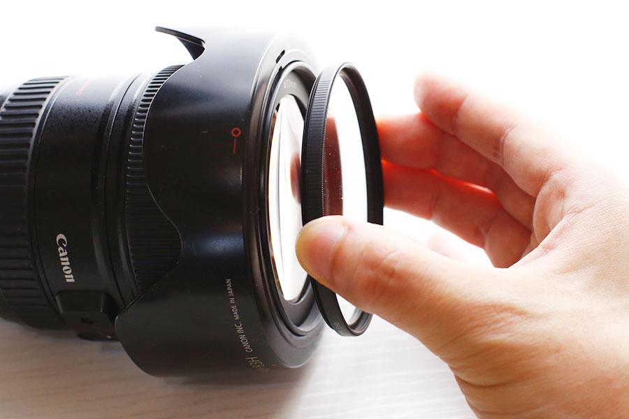 レンズ保護フィルター付け方