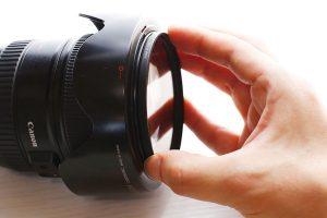 レンズ保護フィルターの付け方