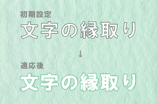 Photoshop縁取り_描画モード