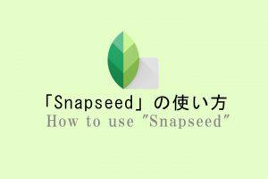 Snapseedの使い方!無料アプリでここまで出来るのがスゴイ!