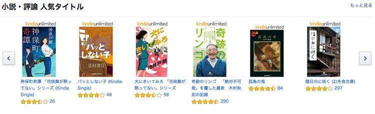 prime-readingのジャンル(小説)