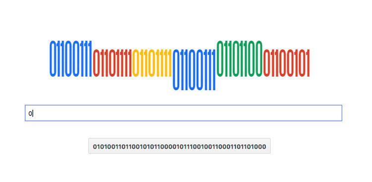Google隠しコマンド:二進法に