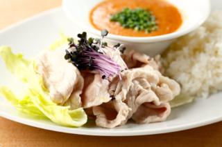豚肉しゃぶしゃぶの料理写真