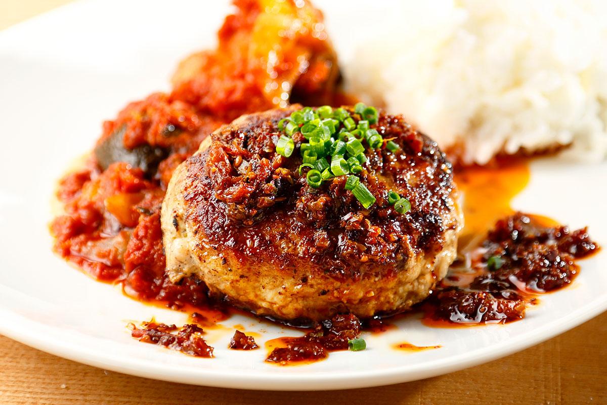 ハンバーグの料理写真