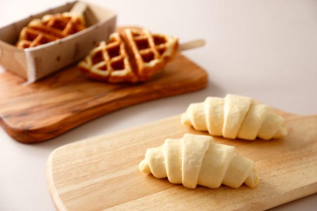 クロワッサンワッフルの料理写真