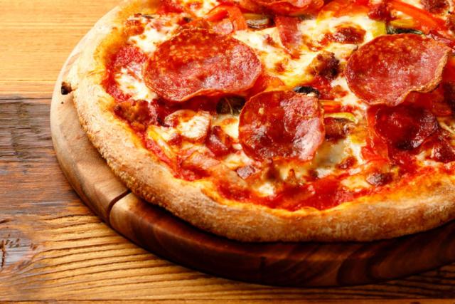 ピザの料理写真