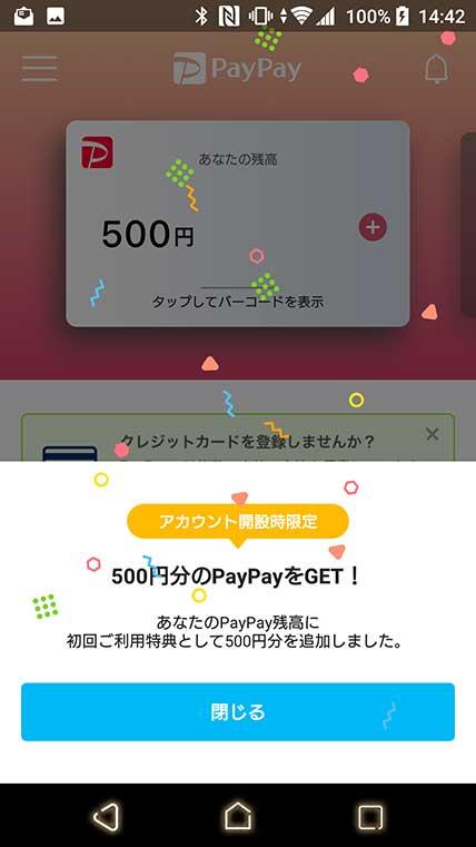 PayPay初期設定