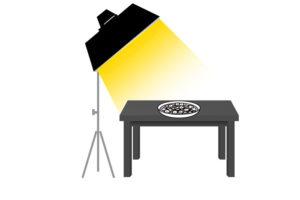 料理写真のストロボライティング-メインライト