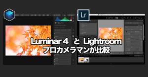 Lightroomの代替になる? Luminar 4(ルミナー)とLightroomを比較