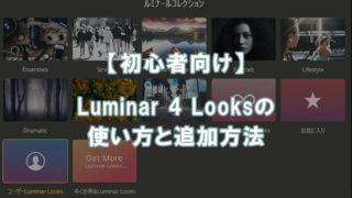 Luminar 4 Looksの使い方と追加方法