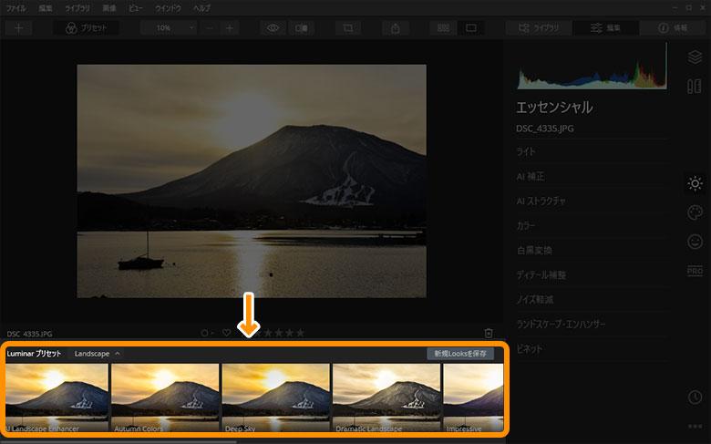 Luminar 4 Looksの使い方