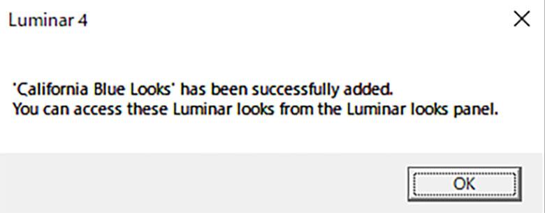 Luminar 4 Looksの追加方法