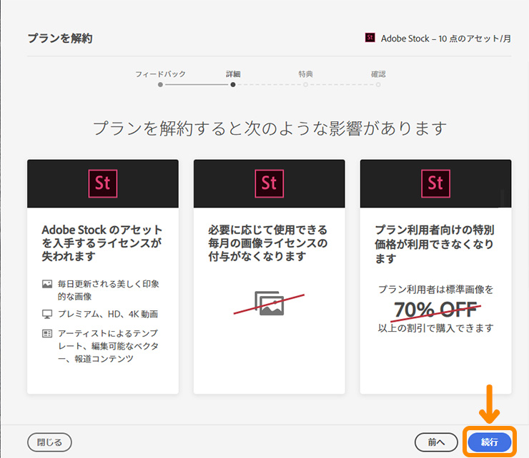 Adobe Stockの解約方法