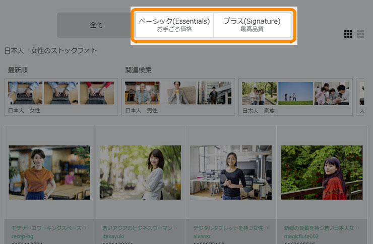 iStockの素材について