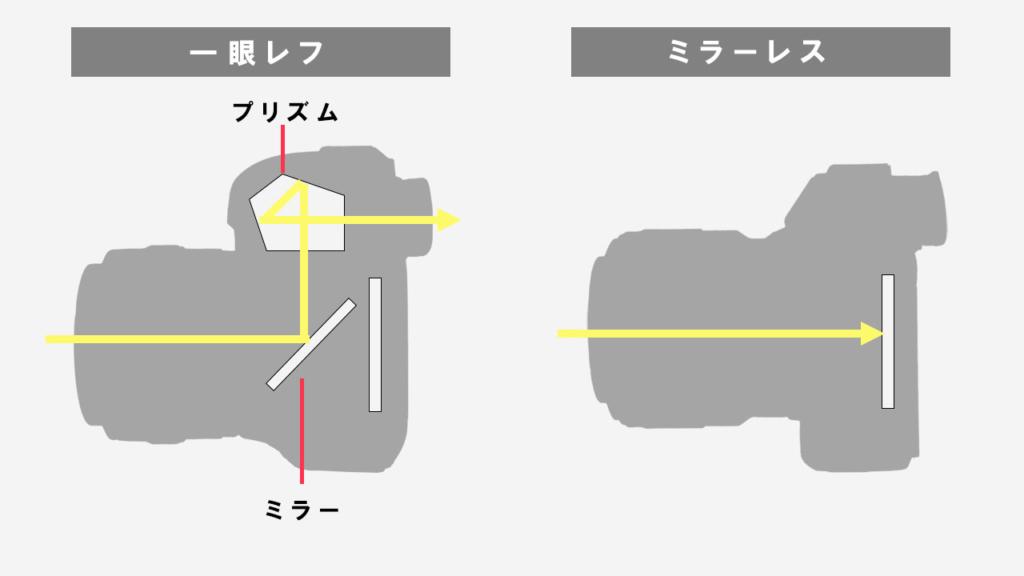 デジタル一眼レフとミラーレスカメラの違い